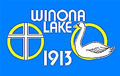 [Winona Lake, Indiana flag]